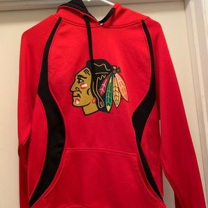 Officially licensed Chicago Blackhawks Hoodie.